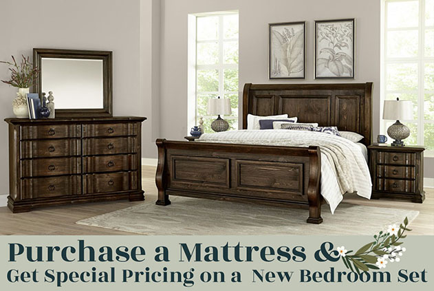 Special Prices on Bedroom after a mattress purchase
